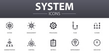 System Simple Concept Icons Se...