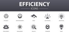Efficiency Simple Concept Icon...