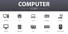 Computer Simple Concept Icons ...