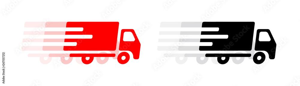 Fototapeta Picto camion de livraison
