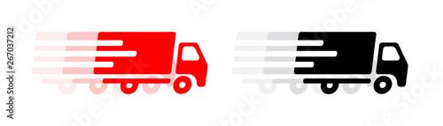 Fototapeta Picto camion de livraison obraz