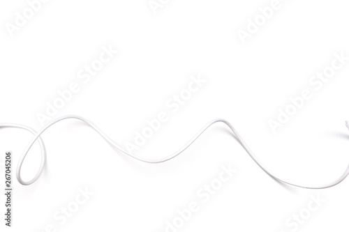Obraz white power cable socket isolated on white background - fototapety do salonu