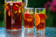 Traditional pimms and lemonade