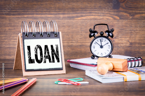 Fototapety, obrazy: Loan concept. Business and success background