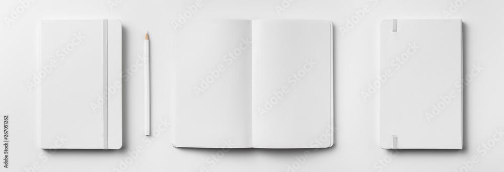 Fototapeta white notebook isolated on white background