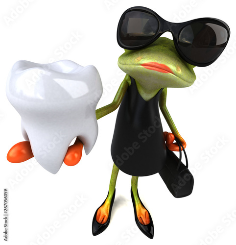 Fun frog - 3D Illustration - 267056059