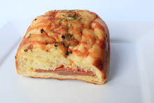 Bread Bacon Layered Sauce, Restaurant Food Concept