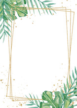Watercolor Tropical Floral Wed...