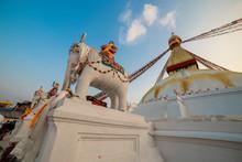 Big Stupa In Kathmandu, Nepal. November 11, 2018