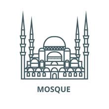 Turkish Mosque  Vector Line Ic...