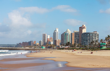 beach and skycrapers of durban