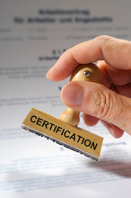 Certification Printed On Rubber Stamp