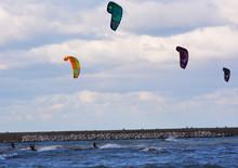 Kitesurfing In Adriatic Sea