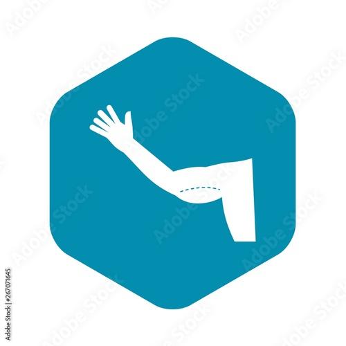 Fotografia, Obraz  Flabby arm cosmetic correction icon