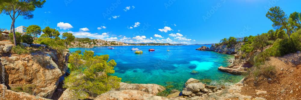 Fototapeta Mallorca Spain Cala Fornells Mediterranean Sea landscape panorama
