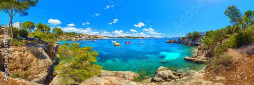 Mallorca Spain Cala Fornells Mediterranean Sea landscape panorama