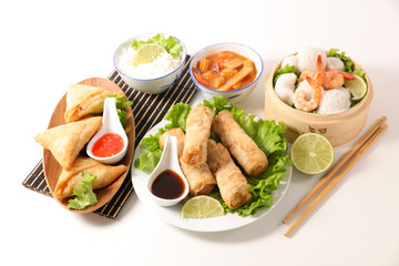 selection of asian meal wit...