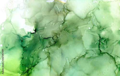 Emerald ink abstract background Canvas Print