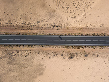 Aerial View Of A Road In The D...
