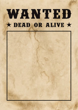 Wanted Poster With Copy Space ...