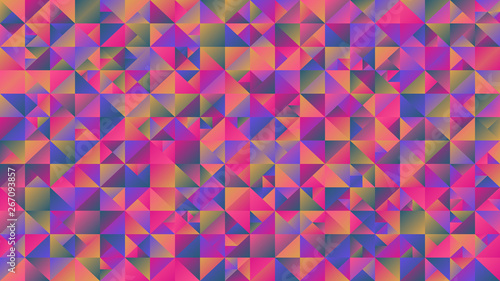 Fotobehang ZigZag Colorful gradient polygonal triangle background - multicolor abstract vector graphic