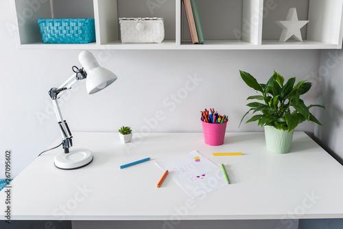 Obraz Child workplace desk - fototapety do salonu