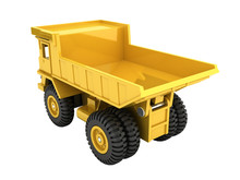Yellow Toy Dump Truck Isolated...