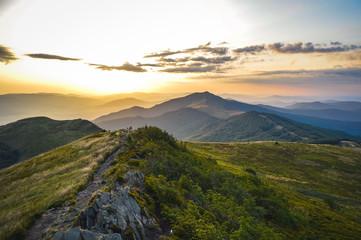 Panorama Bieszczad widziana z Połoniny Wetlińskiej