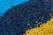 Pattern Of Yellow And Blue Pol...