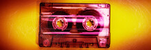 Old Audio Cassette Is On A Yel...