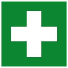 First Aid Station Symbol Sign,...