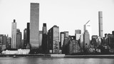 East river and Manhattan in black and white - 267119089