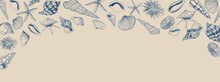 Vector Seashell Banner