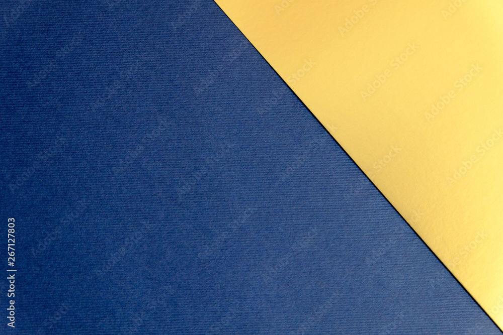 Fototapety, obrazy: Navy blue and gold paper texture background