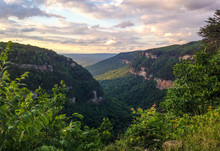 Cloudland Canyon State Park In Northern Georgia At Sunset