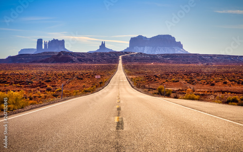 Canvas Prints Route 66 Road to Monument Valley