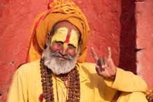 Kathmandu Sadhu Men Holy Perso...