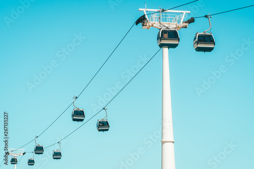 Obraz Cable Cars In Lisbon, Portugal - fototapety do salonu