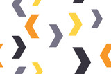 Bezszwowy, abstrakcjonistyczny tło wzór robić z kolorowymi szewronowymi kształtami. Zabawna, nowoczesna sztuka wektorowa. - 267135494