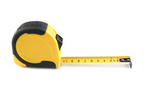 Metal Measuring Tape On White ...