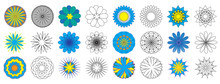 Coloring Book. Doodle Flowers (spirograph). Vector Illustration.