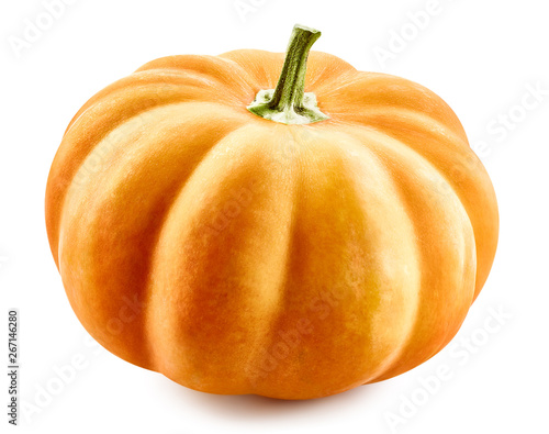 Poster de jardin Inde Pumpkin isolated on white