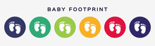 Baby Footprint Icons. Set Of C...