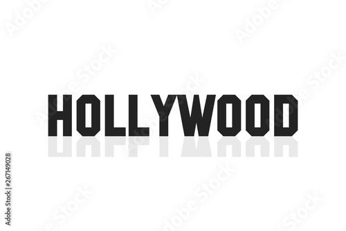 Εκτύπωση καμβά Hollywood lettering banner