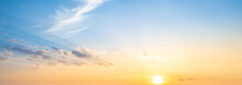 Blue Sky And Orange Sunset Pan...