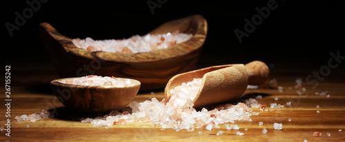 mata magnetyczna Natuaral cosmetics with pink himalayan spa salt. Sea bath salt for healthy spa relaxation