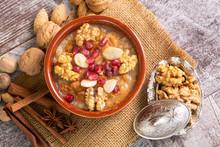 Traditional Delicious Turkish Dessert; Ashura (Asure)