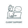 Client support vector line icon, outline concept, linear sign