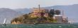 canvas print picture - Alcatraz island at San Francisco Bay