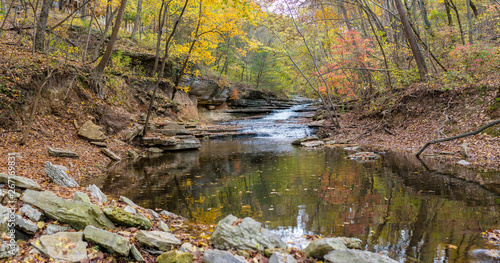 Canvas Print Tanyard Creek Nature Trail Bella Vista, Northwest Arkansas